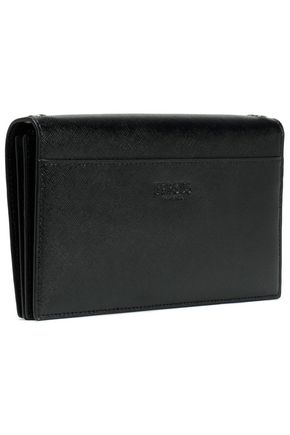 VERSUS VERSACE Embellished textured-leather clutch