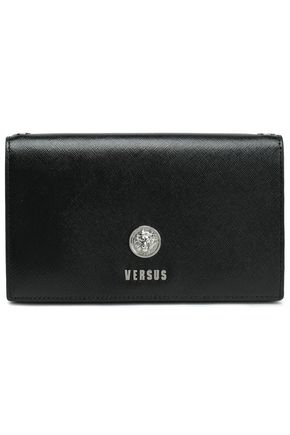 VERSUS VERSACE Embellished textured-leather clutch
