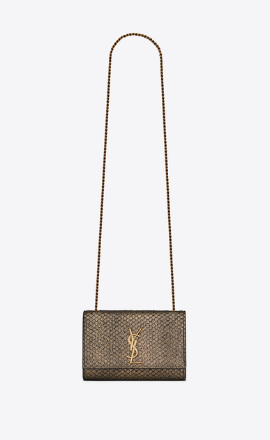 Small Kate bag in metallic python-look leather