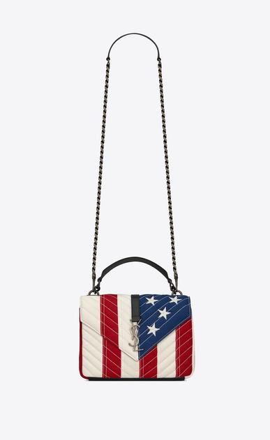"""Medium College bag in """"American Flag"""" patchwork fabric"""