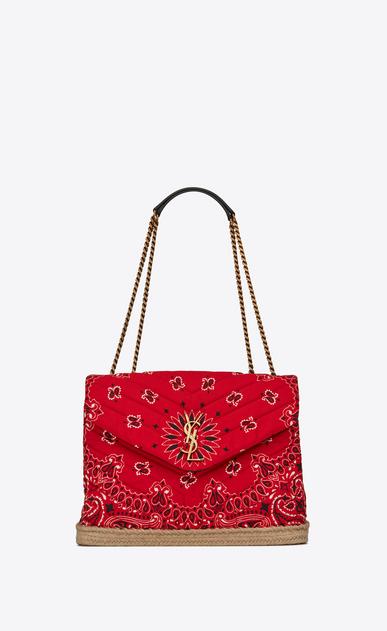 Medium Loulou bag in bandana fabric and jute thread