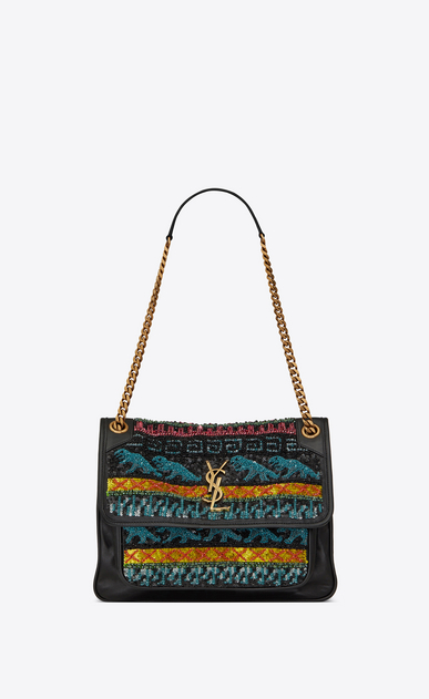 Medium Niki Bag Decorated With Dinosaur Embroideries
