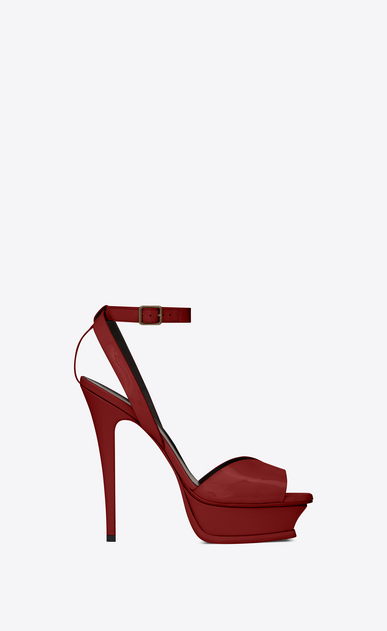 TRIBUTE LIPS Sandals in patent leather