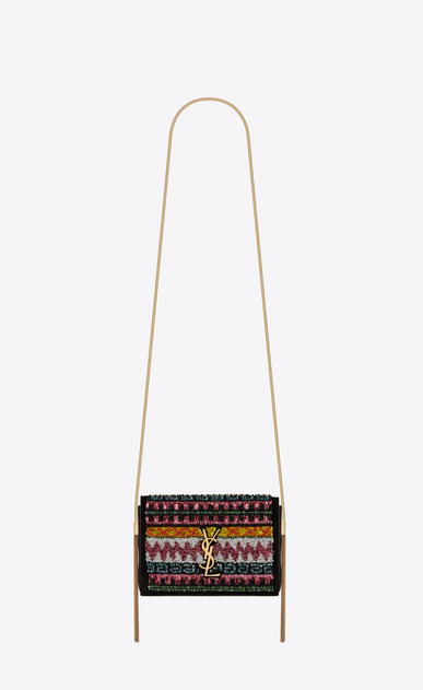 Small Kate bag with suede tassel decorated with zigzag embroidery