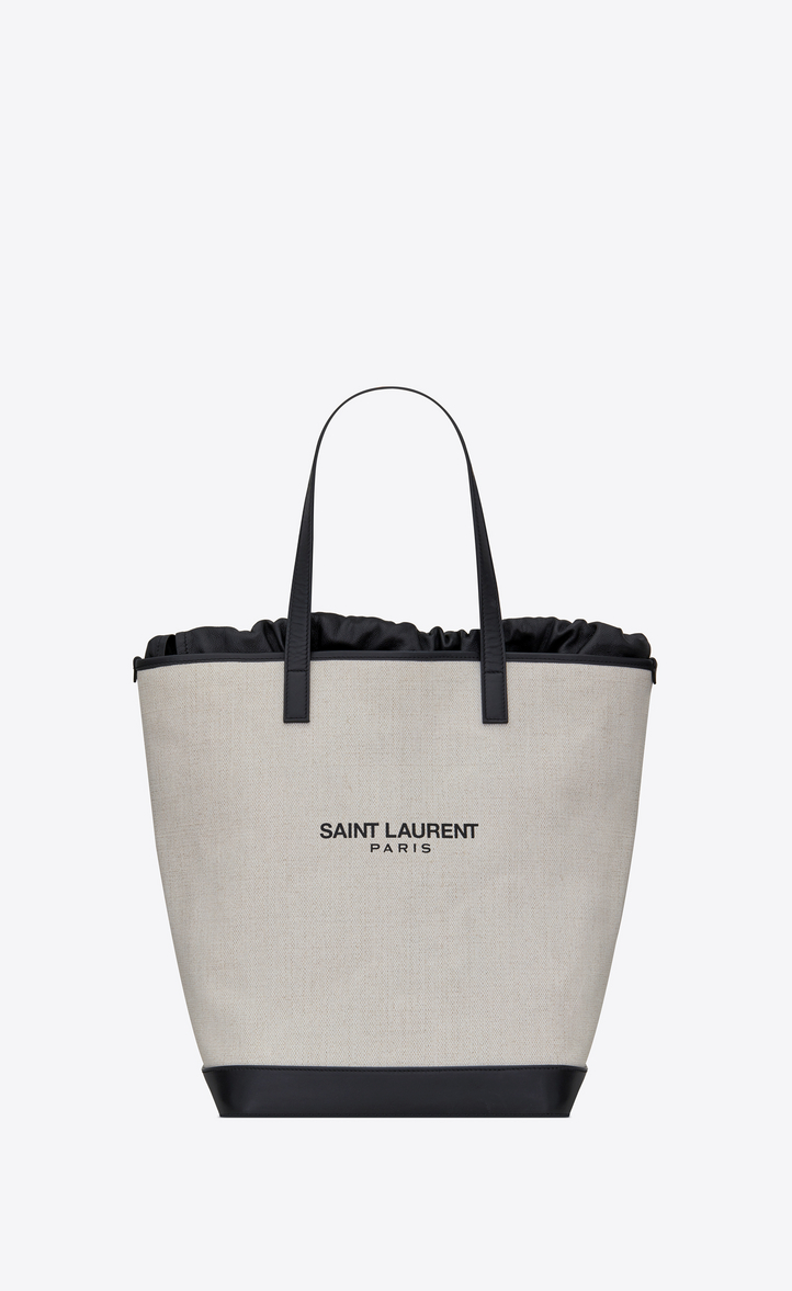 658b345fc1e0 Saint Laurent TEDDY Shopping Bag In Linen Canvas   YSL.com