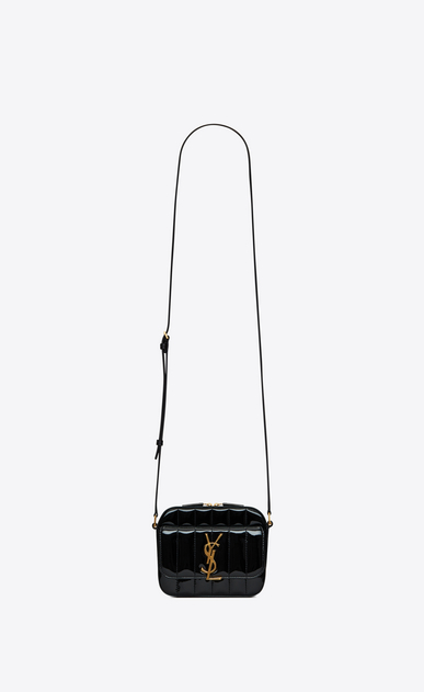 Vicky toy camera bag in quilted patent leather