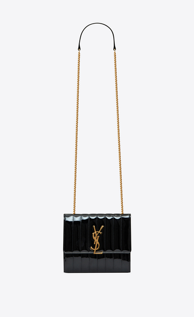 Vicky chain wallet in matelassé patent leather f5219100ad