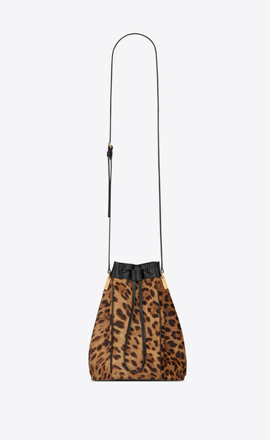 TALITHA medium bucket bag in ponyskin-look leather with a leopard print