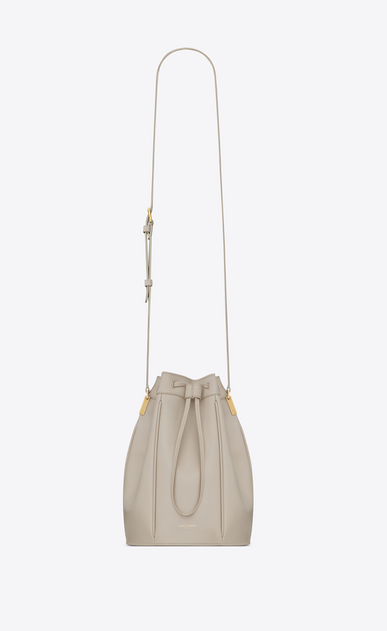 TALITHA medium bucket bag in smooth leather