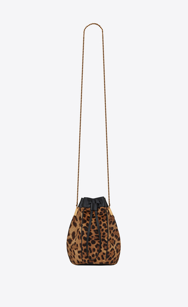 Talitha Small Bucket Bag In Ponyskin Look Leather With A Leopard Print
