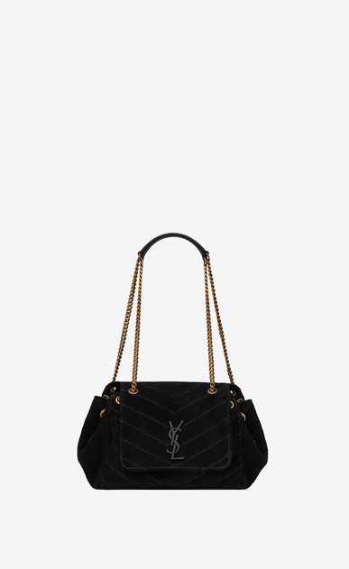 Small Nolita chain bag in suede