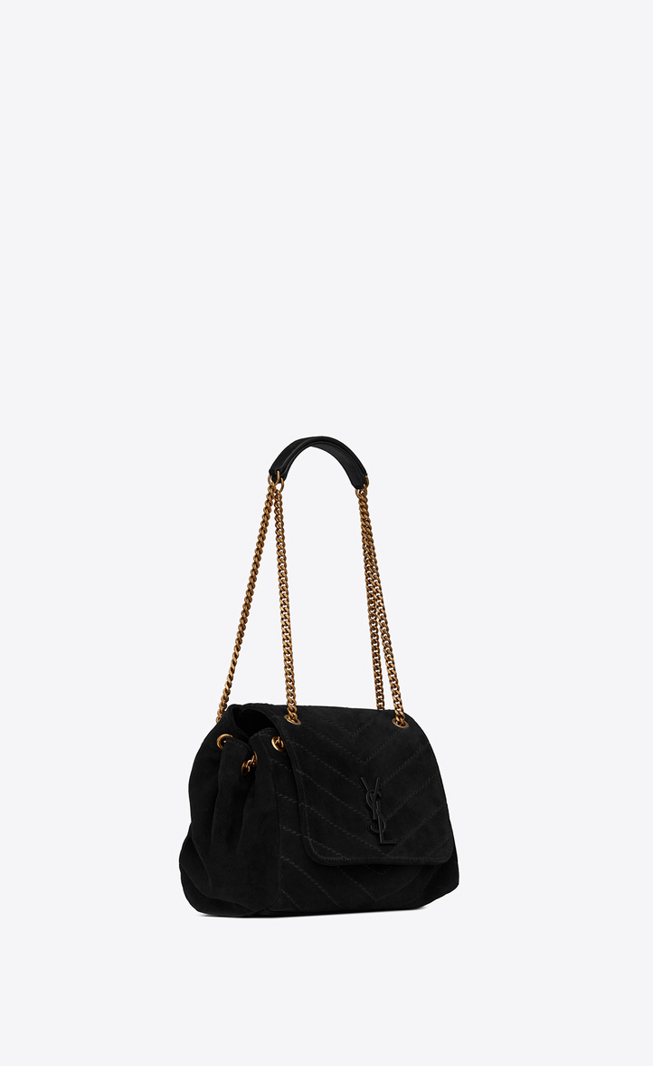 ad8927f34fd2 Saint Laurent Small Nolita Chain Bag In Suede