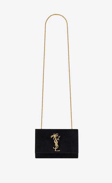 Small Kate bag in suede and monogram palm tree