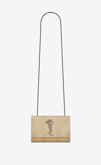 Small Kate bag in worn-look lacquered ayers and monogram palm tree
