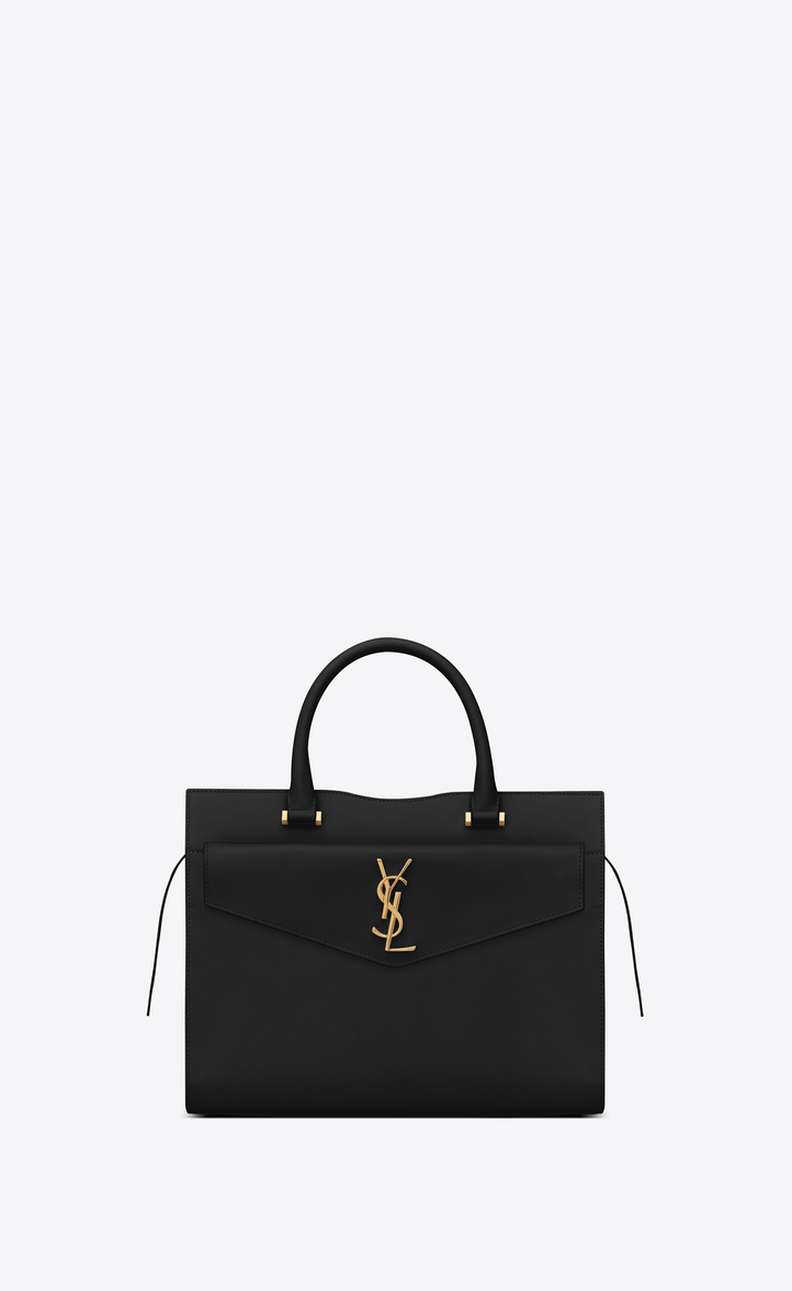 Saint Laurent Medium UPTOWN Tote In Glazed Leather