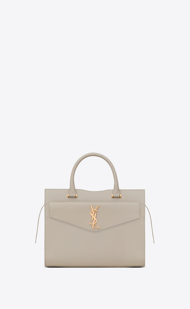 Medium UPTOWN tote in glazed leather