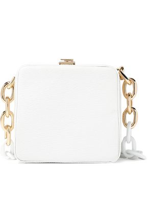 THE VOLON Cube Chain textured-leather shoulder bag