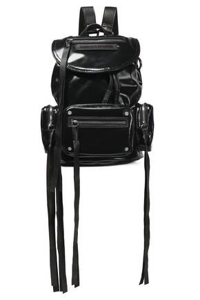 McQ Alexander McQueen Faux leather-trimmed vinyl backpack