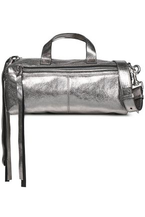 McQ Alexander McQueen Metallic leather shoulder bag