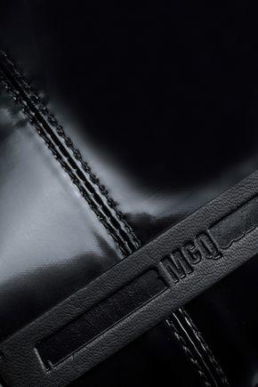 McQ Alexander McQueen Faux leather-trimmed vinyl shoulder bag
