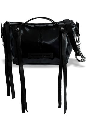 McQ Alexander McQueen Faux leather-trimmed vinyl shoulder bag