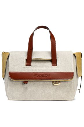 J.W.ANDERSON Leather-trimmed canvas weekend bag