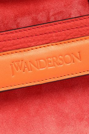J.W.ANDERSON Two-tone leather-trimmed suede shoulder bag