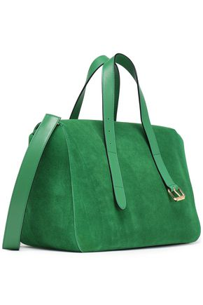 J.W.ANDERSON Leather-trimmed suede shoulder bag