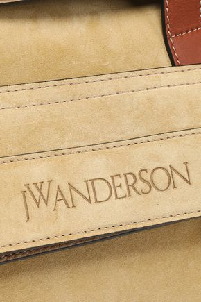 J.W.ANDERSON Tool leather-trimmed suede tote
