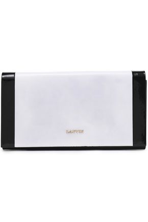LANVIN Two-tone leather clutch