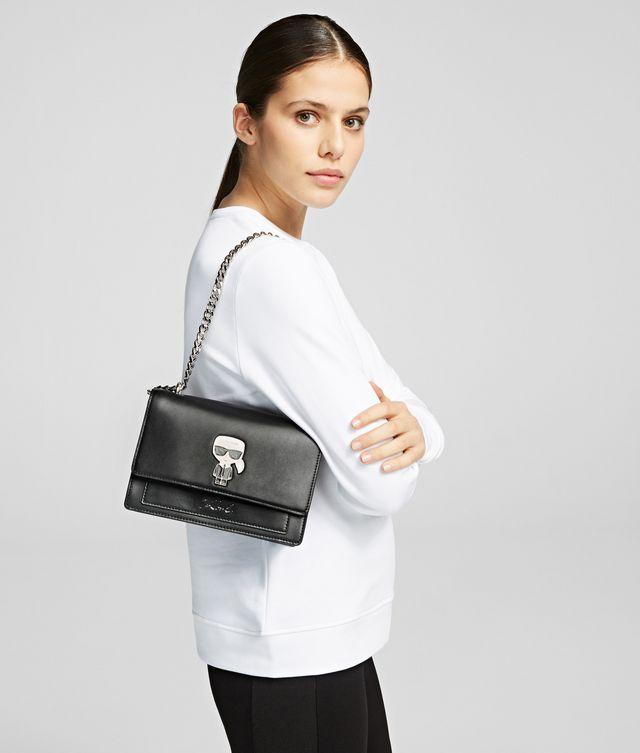 Karl Lagerfeld - K/Ikonik sac bandoulière à pin's en métal - 2