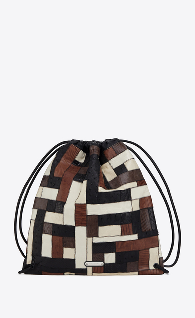 TEDDY backpack in exotic skins patchwork