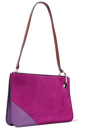 J.W.ANDERSON Leather-paneled suede shoulder bag