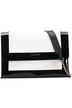 LANVIN Two-tone leather shoulder bag