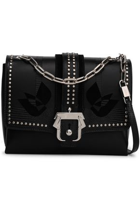 PAULA CADEMARTORI Studded lizard-effect leather shoulder bag