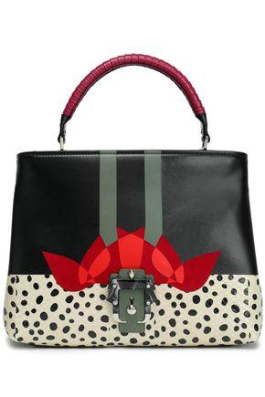 PAULA CADEMARTORI Leather, suede and snakeskin shoulder bag