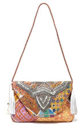 ANTIK BATIK Milah embellished cotton shoulder bag