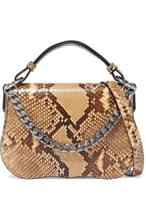 CALVIN KLEIN 205W39NYC Chain-trimmed python shoulder bag
