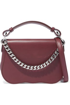 780695c2c222 CALVIN KLEIN 205W39NYC Chain-trimmed leather shoulder bag
