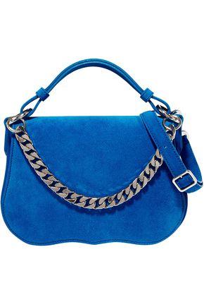 CALVIN KLEIN 205W39NYC حقيبة كتف مصنوعة من الجلد السويدي مزيّنة بسلسلة مشذبة