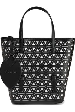 ALAÏA Laser-cut leather tote