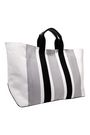 CALVIN KLEIN 205W39NYC Leather-trimmed striped canvas tote
