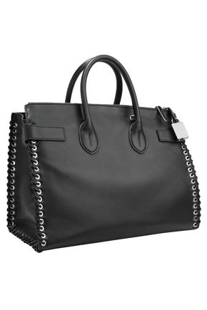 CALVIN KLEIN 205W39NYC Whipstitched leather tote
