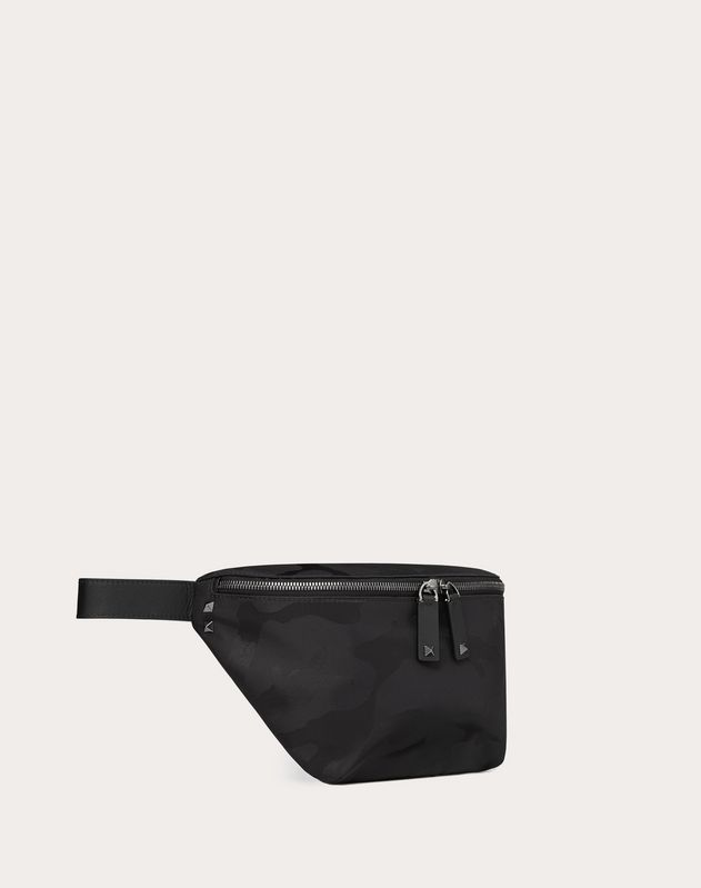 NYLON CAMOUFLAGE NOIR BELT BAG