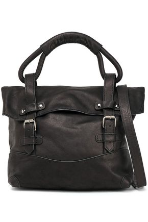 ANN DEMEULEMEESTER Buckled leather shoulder bag