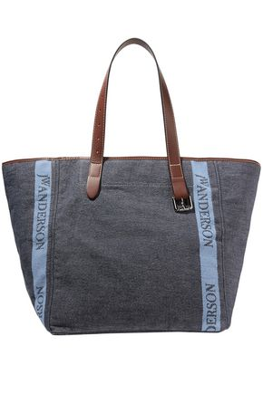 J.W.ANDERSON Leather-trimmed logo-printed canvas tote