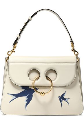 J.W.ANDERSON Pierce embroidered leather shoulder bag