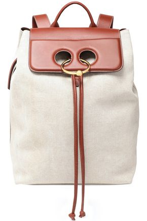 J.W.ANDERSON Pierce two-tone leather-paneled canvas backpack