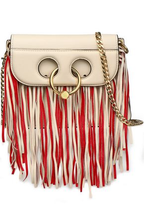 J.W.ANDERSON Pierce fringed leather shoulder bag