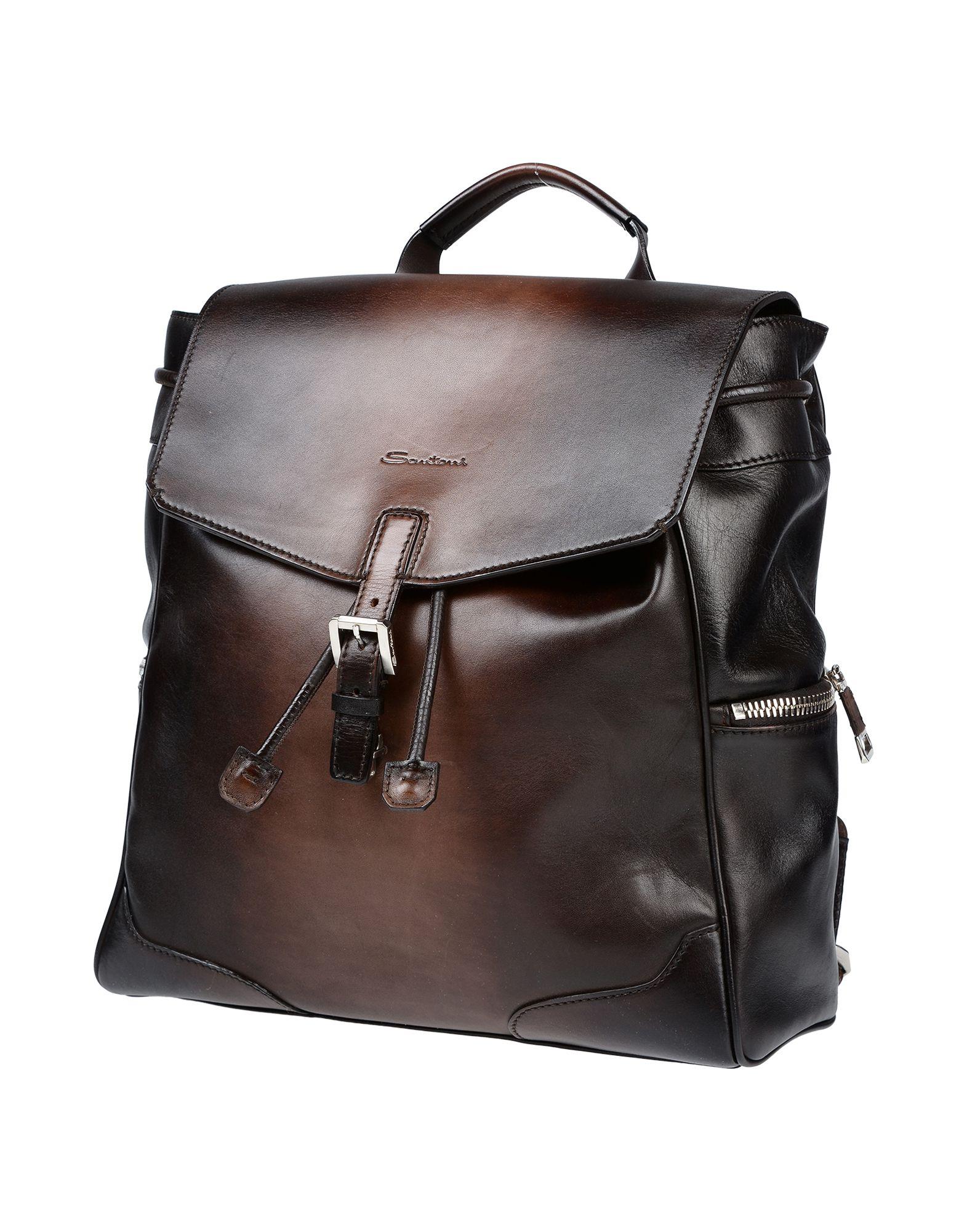 SANTONI Рюкзаки и сумки на пояс дизайнер высокое качество натуральная кожа женские винтажные овчины твердые школьные сумки mochilas mujer 2017 рюкзаки для девочек